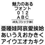 AR丸ゴシック体E (Windows版 TrueTypeフォントJIS2004字形対応版)