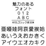 AR丸ゴシック体3DM (Windows版 TrueTypeフォントJIS2004字形対応版)