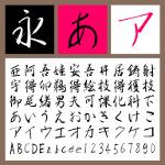 雲涯フォント 美し行書 通常版【Mac版OpenTypeフォント】【デザイン書体】【行書体】【筆書系】