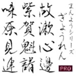 【Design筆文字Font】 万葉シリーズPRO 行恋書体 (Win版TrueTypeフォント)