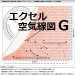 エクセル空気線図G