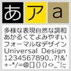 ユニバーサルデザインフォント / C4 ユニバーサルライン DSP L 【Mac版TrueTypeフォント】【ゴシック体】【モダンゴシック】